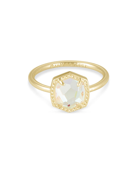 Kendra Scott Davie Band Ring in Gold Dichroic Glass