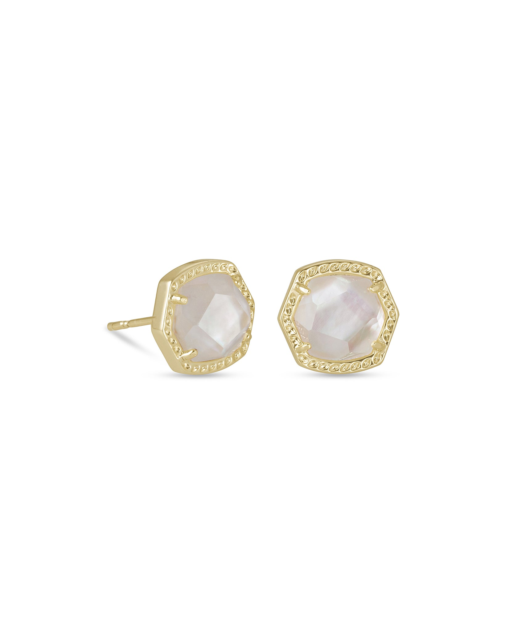 Kendra Scott Davie Stud Earrings in Ivory Pearl