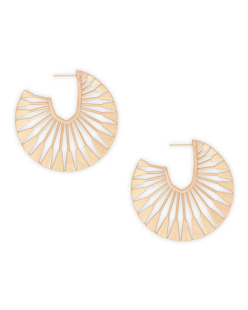 Kendra Scott Deanne Hoop Earrings In Rose Gold