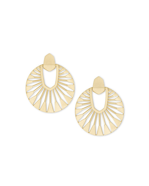 Kendra Scott Didi Sunburst Statement Earrings In Gold