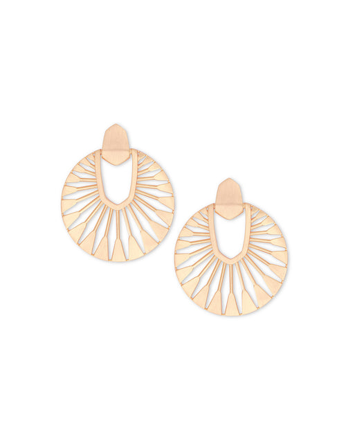 Kendra Scott Didi Sunburst Statement Earrings In Rose Gold