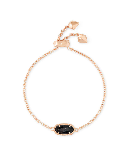 Kendra Scott Elaina Adjustable Chain Bracelet In Black Granite