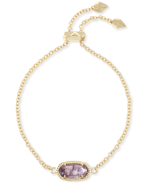 Kendra Scott Elaina Adjustable Chain Bracelet In Amethyst