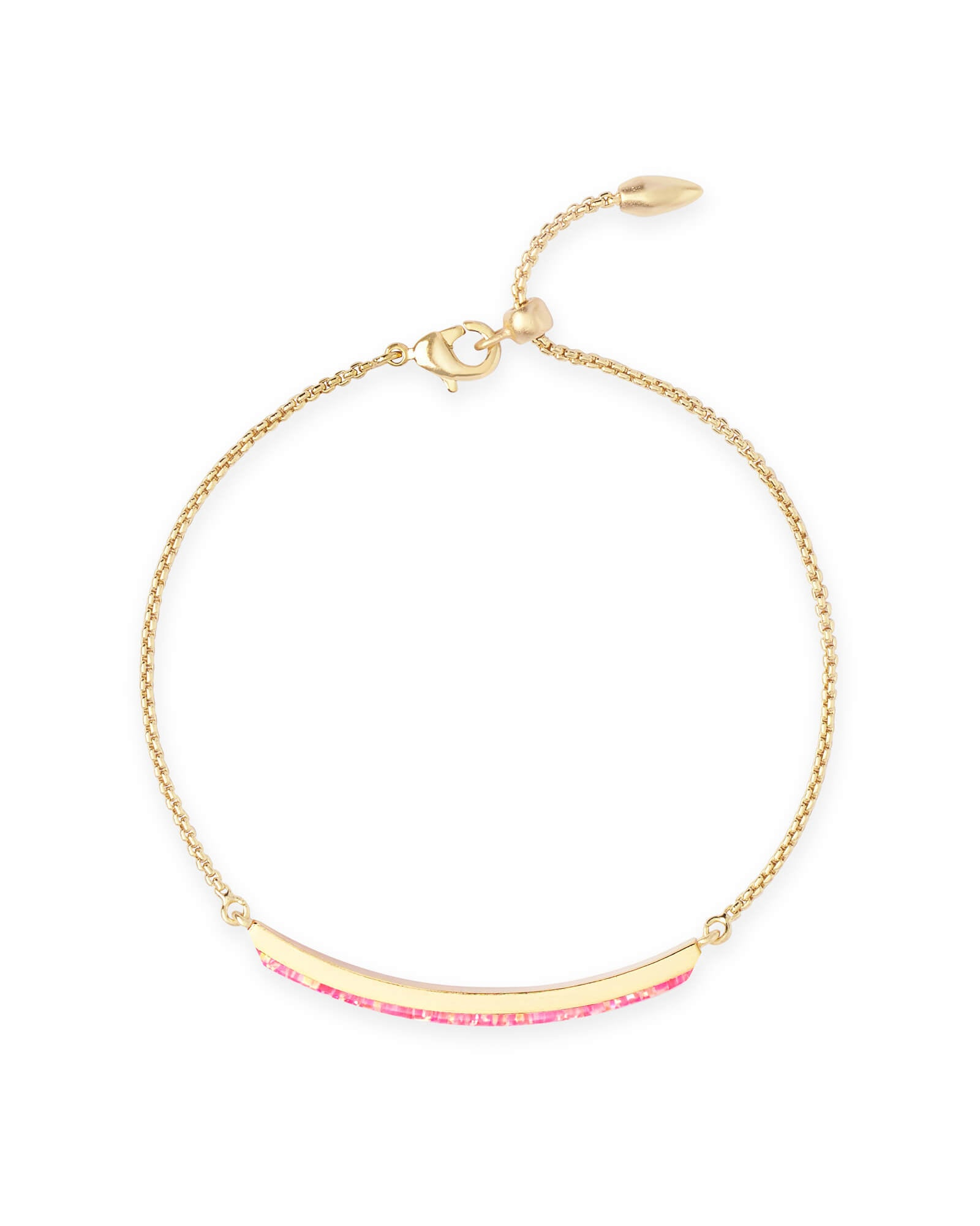 Kendra Scott Eloise Ann Gold Chain Bracelet In Hot Pink Kyocera Opal