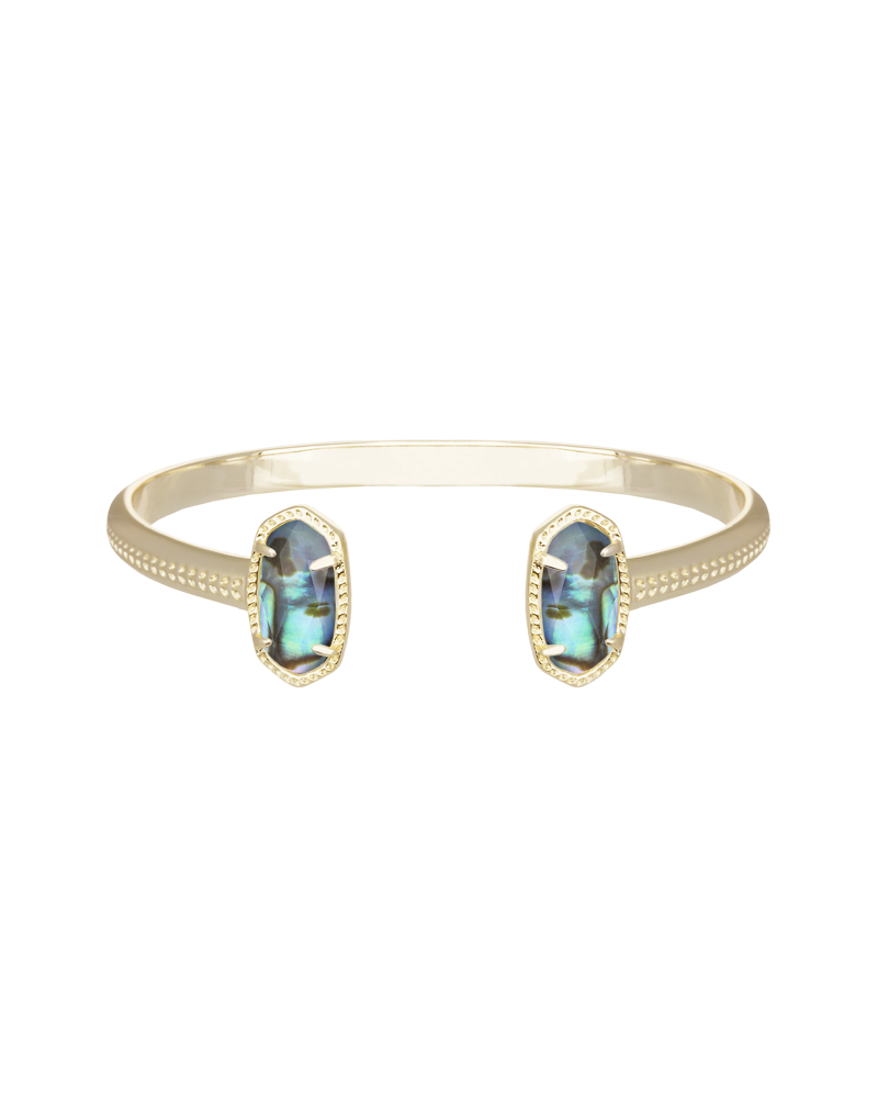 Kendra Scott Elton Gold Bracelet In Abalone Shell