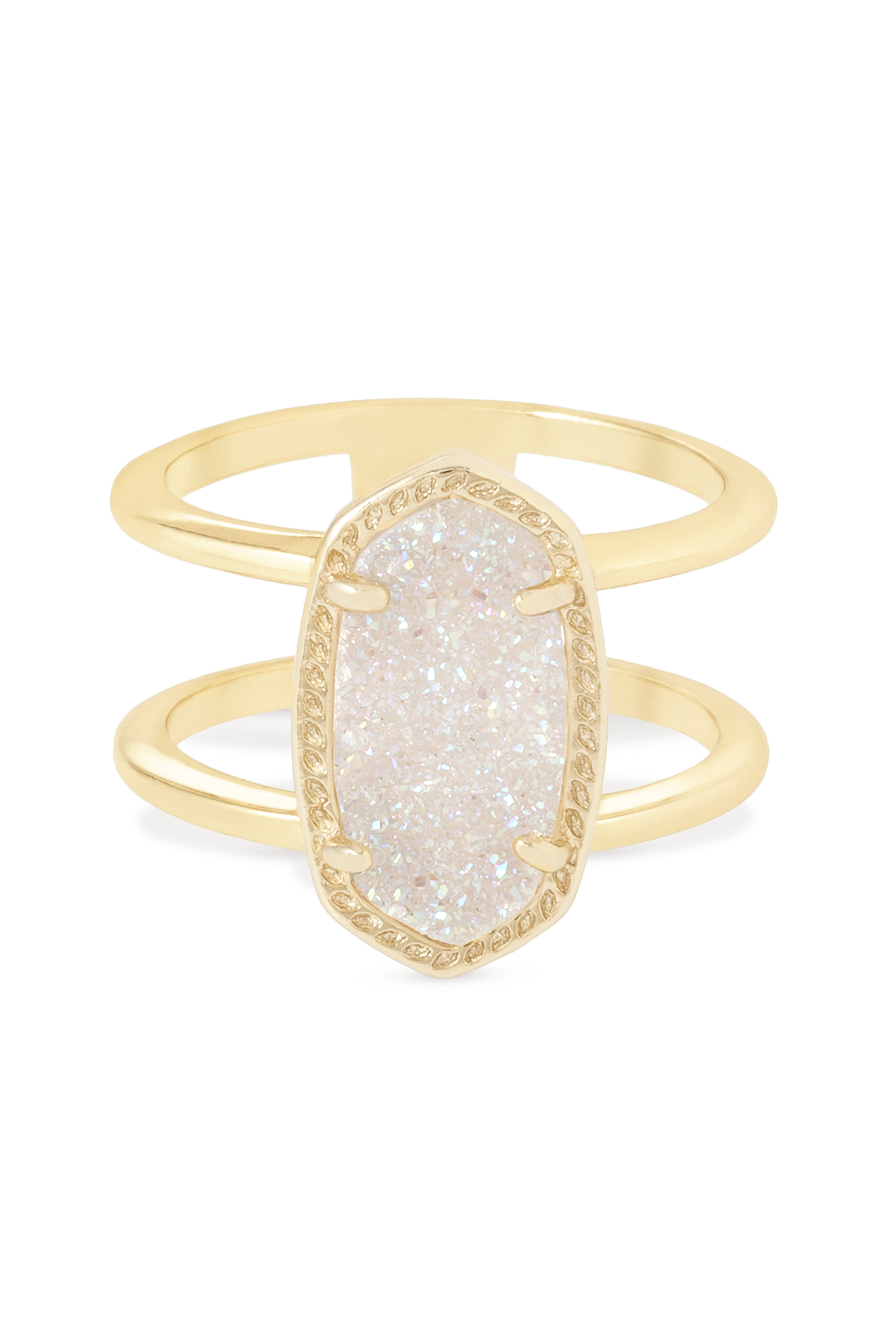 Kendra Scott Elyse Ring in Gold Iridescent Drusy
