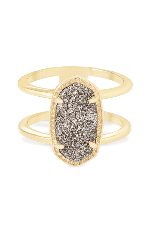 Kendra Scott Elyse Ring In Gold Platinum Drusy