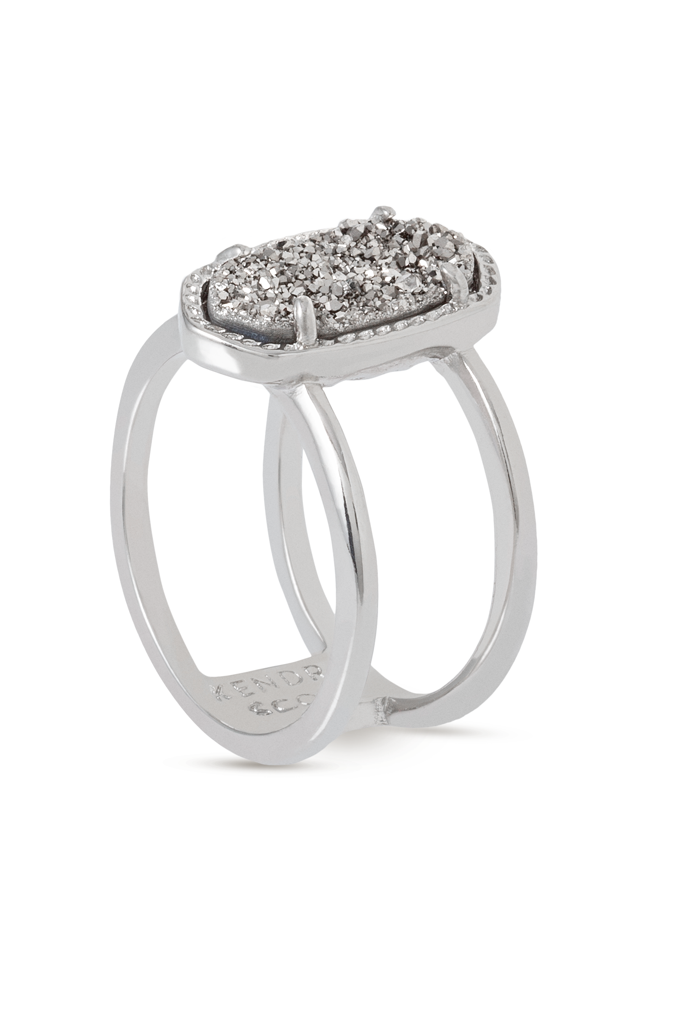 Kendra Scott Elyse Ring In Silver Platinum Drusy