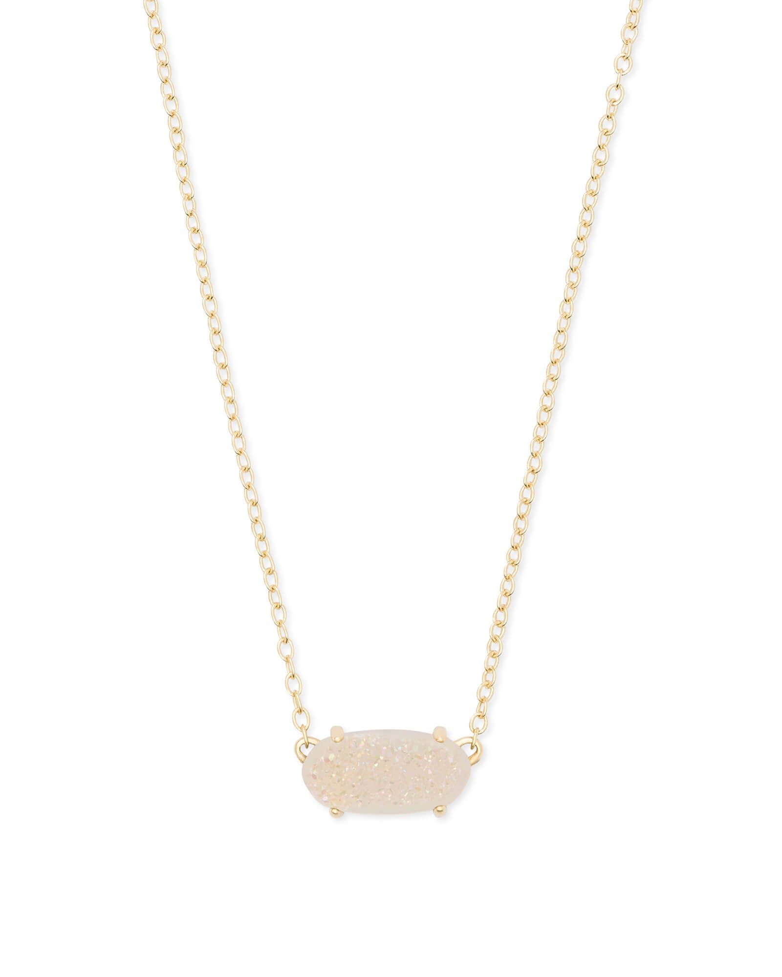 Kendra Scott Ever Gold Pendant Necklace In Iridescent Drusy