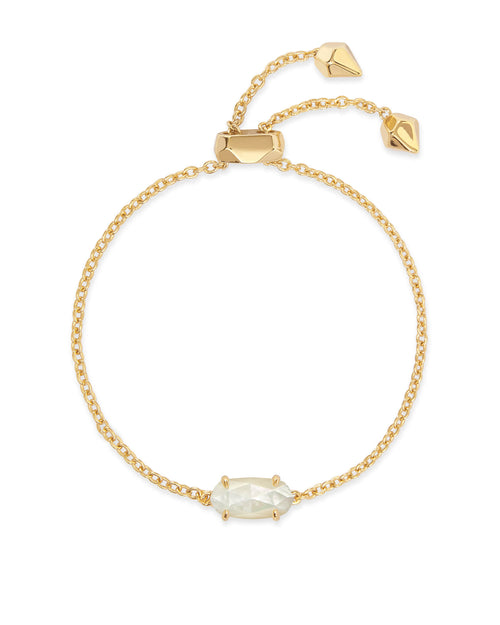 Kendra Scott Everlyne Gold Chain Bracelet In Ivory Pearl