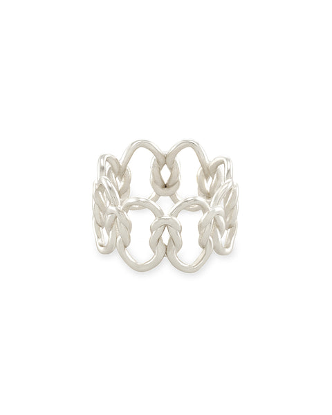 Kendra Scott Fallyn Band Ring In Silver