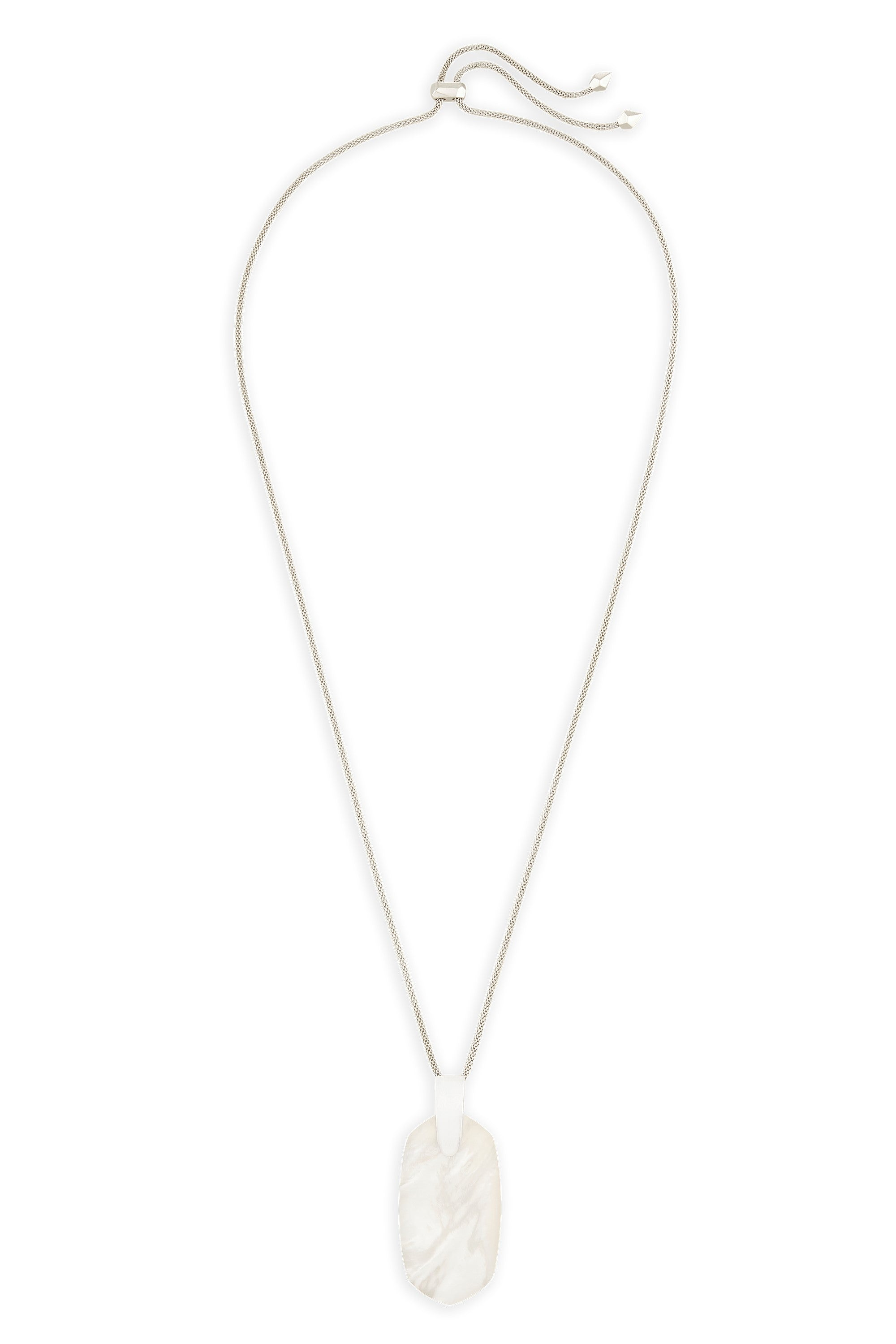 Kendra Scott Inez Long Pendant Necklace In Ivory Pearl