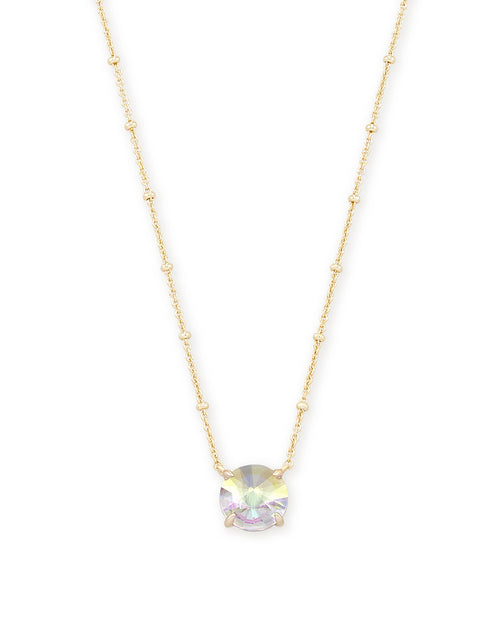 Kendra Scott Jolie Gold Pendant Necklace In Dichroic Glass