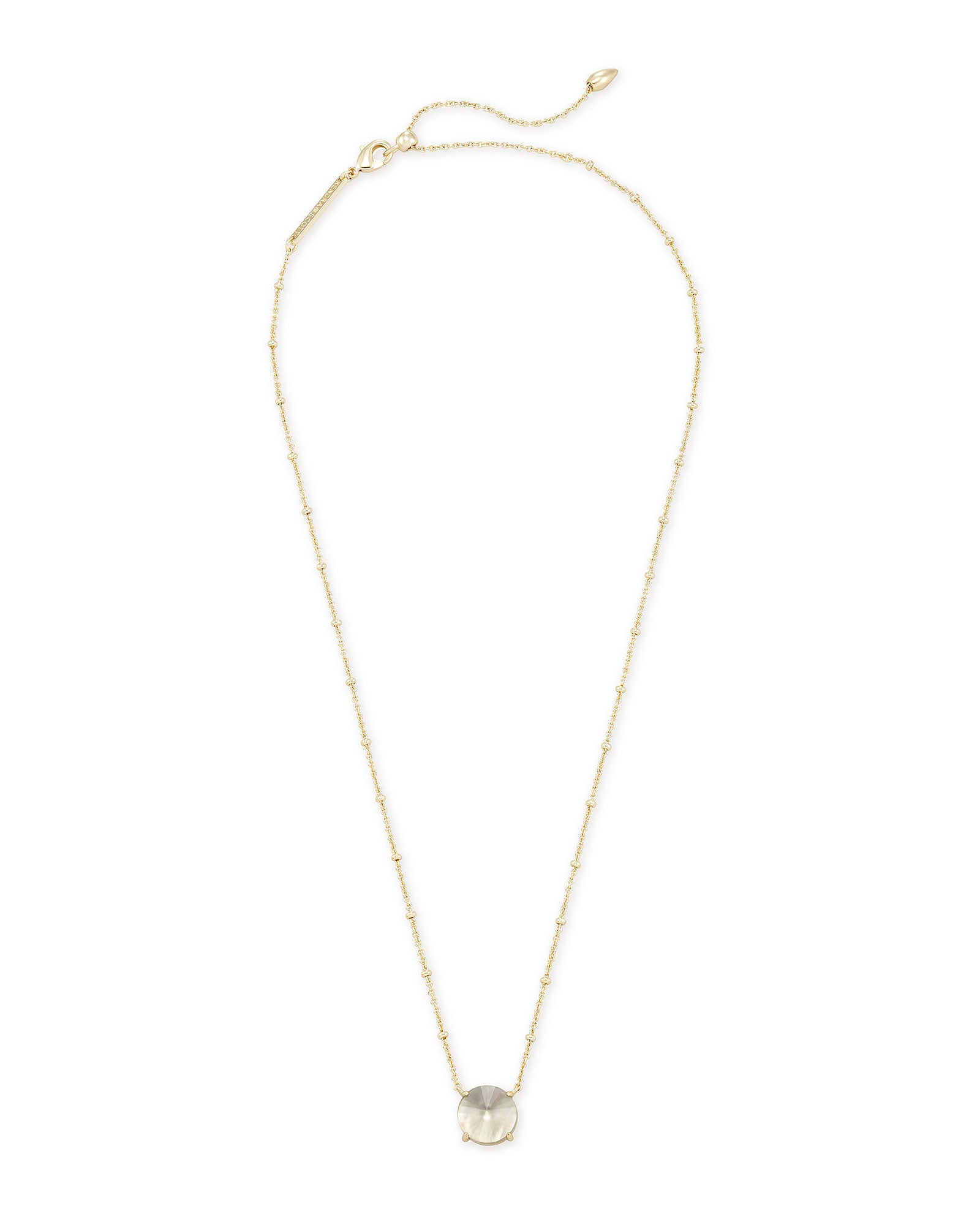 Kendra Scott Jolie Gold Pendant Necklace In Gray Illusion