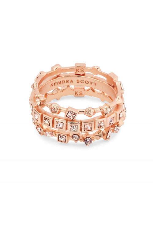 Kendra Scott Karis Rose Gold Stackable Ring Set