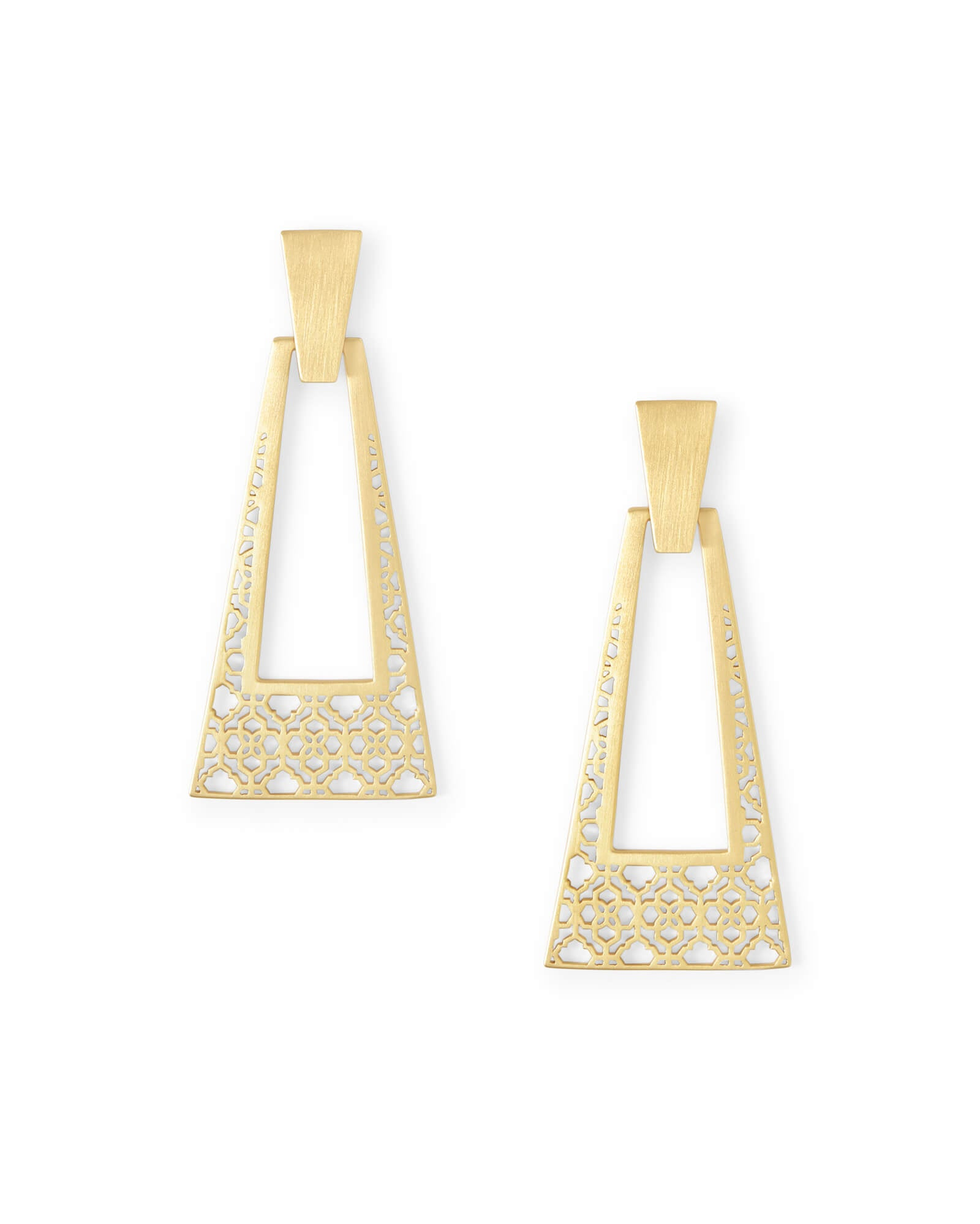 Kendra Scott Kase Gold Statement Earrings In Gold Filigree