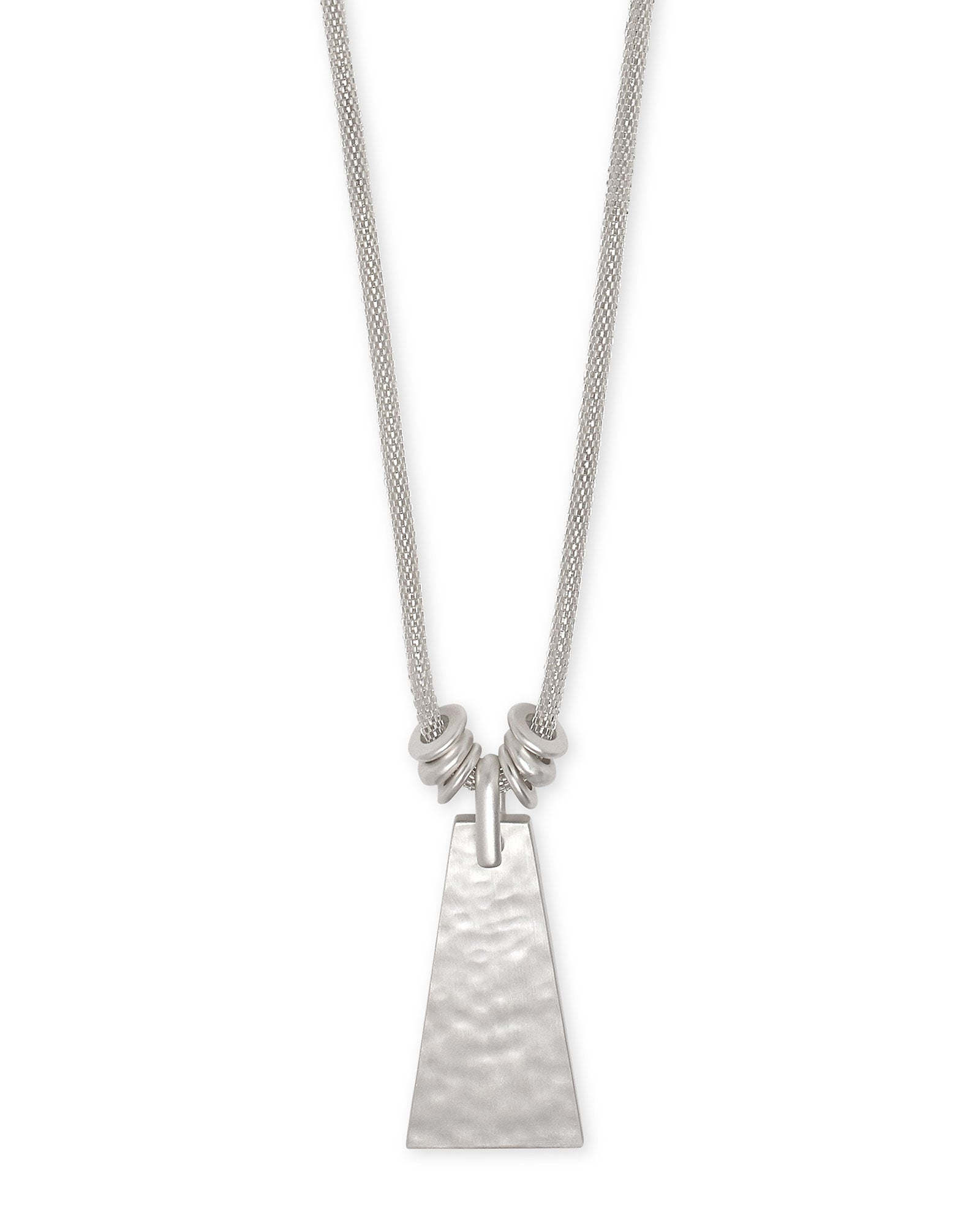 Kendra Scott Keerti Long Pendant Necklace In Bright Silver