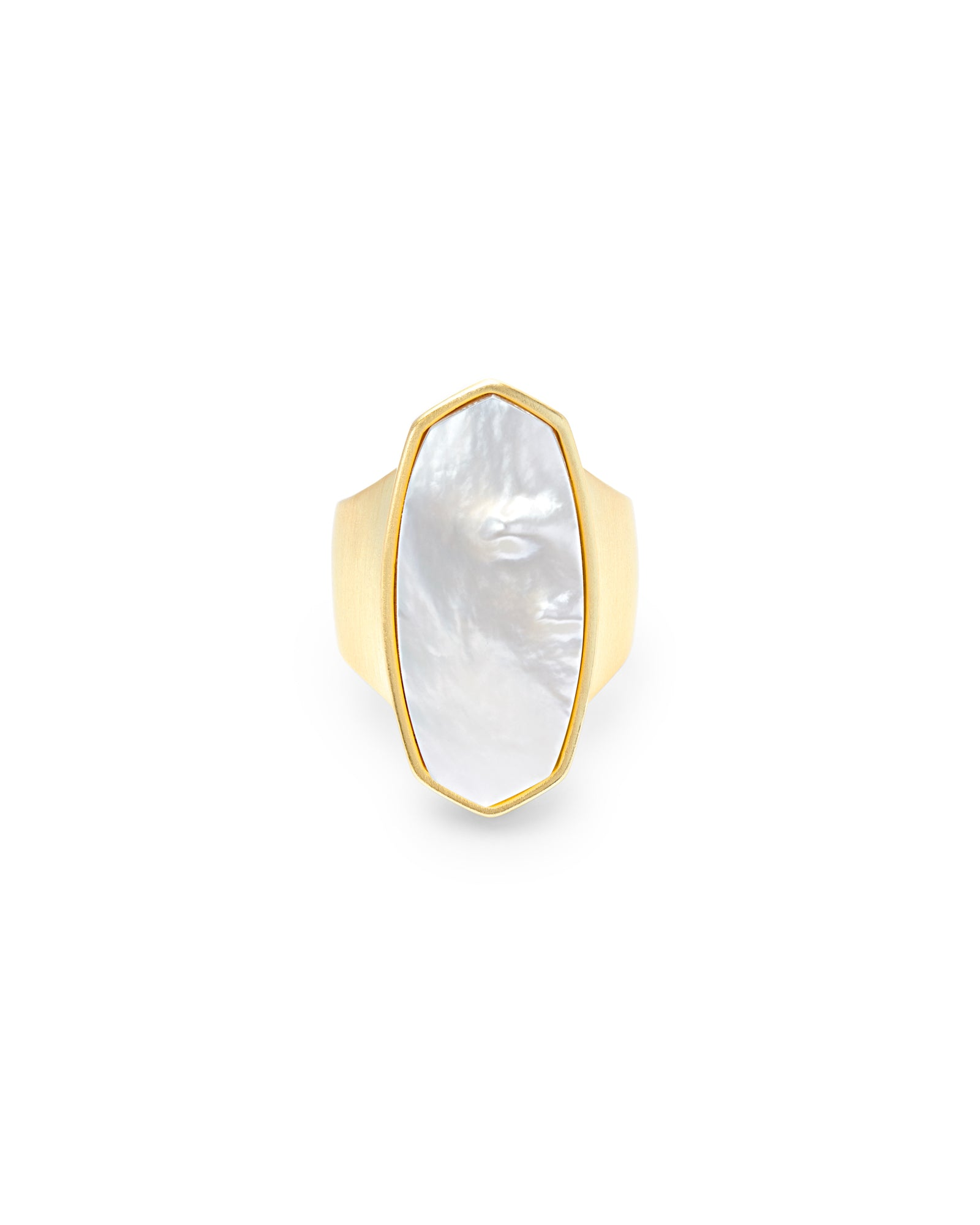 Kendra Scott Kit Gold Cocktail Ring In Ivory Pearl