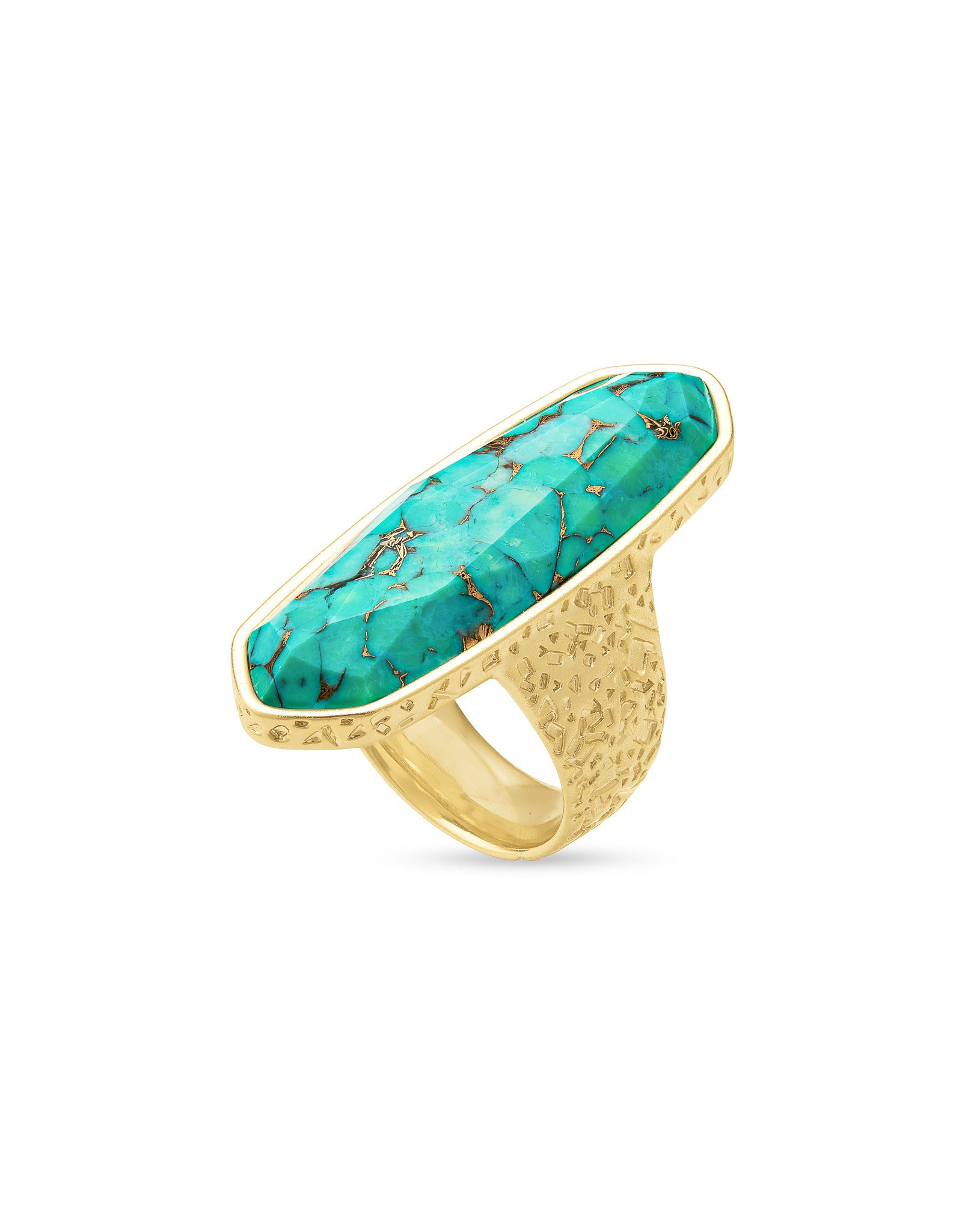 Kendra Scott Layla Ring in Gold Bronze Veined Teal