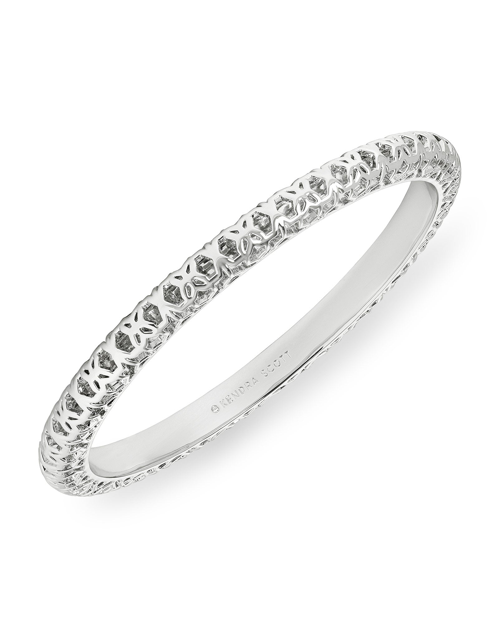 Kendra Scott Maggie Bangle Bracelet In Silver Filigree