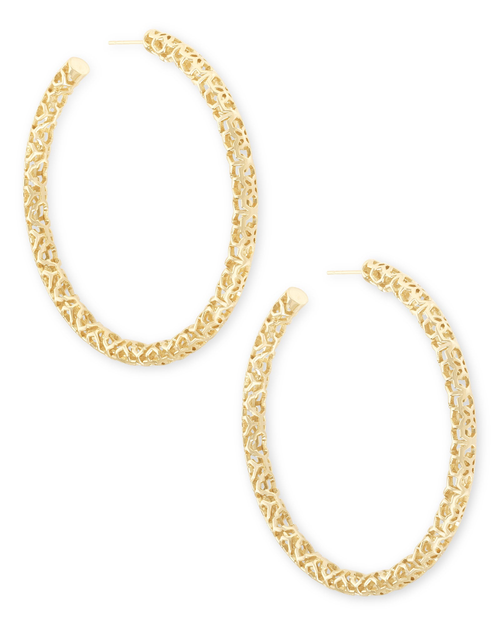 Kendra Scott Maggie Hoop Earrings In Gold Filigree