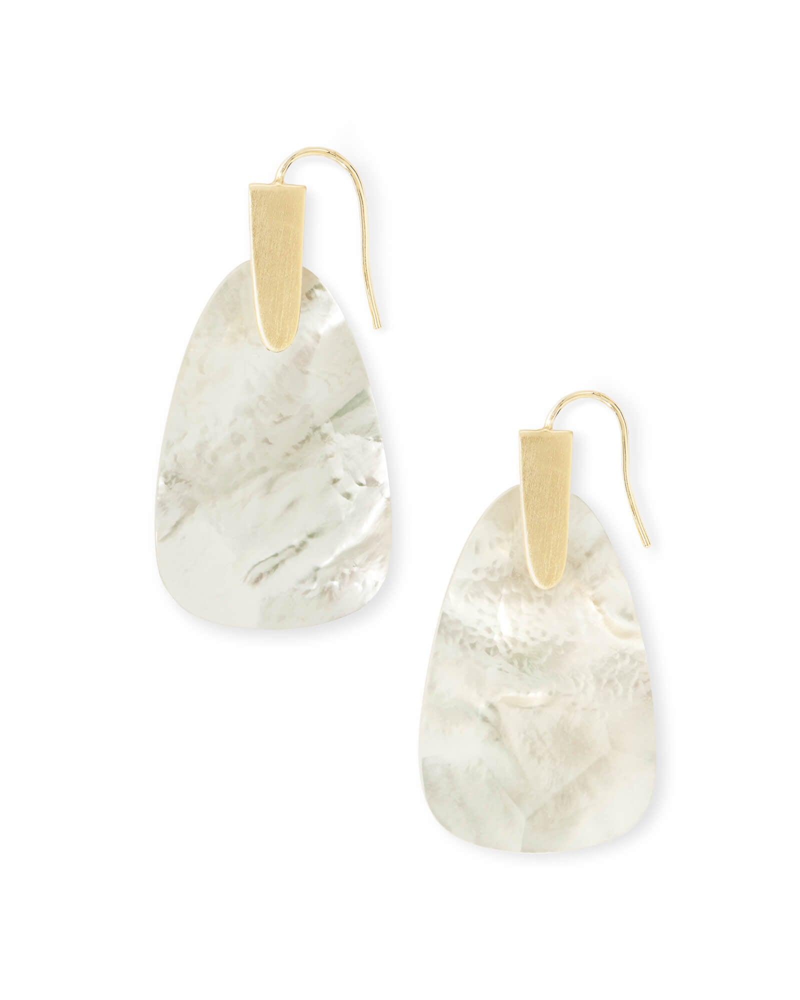 Kendra Scott Marty Gold Drop Earrings In Ivory Pearl