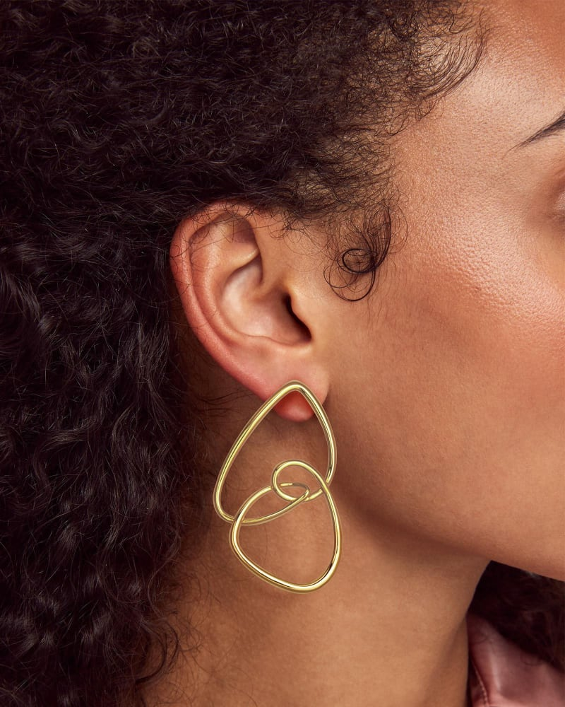 Kendra Scott Myles Statement Earrings In Gold