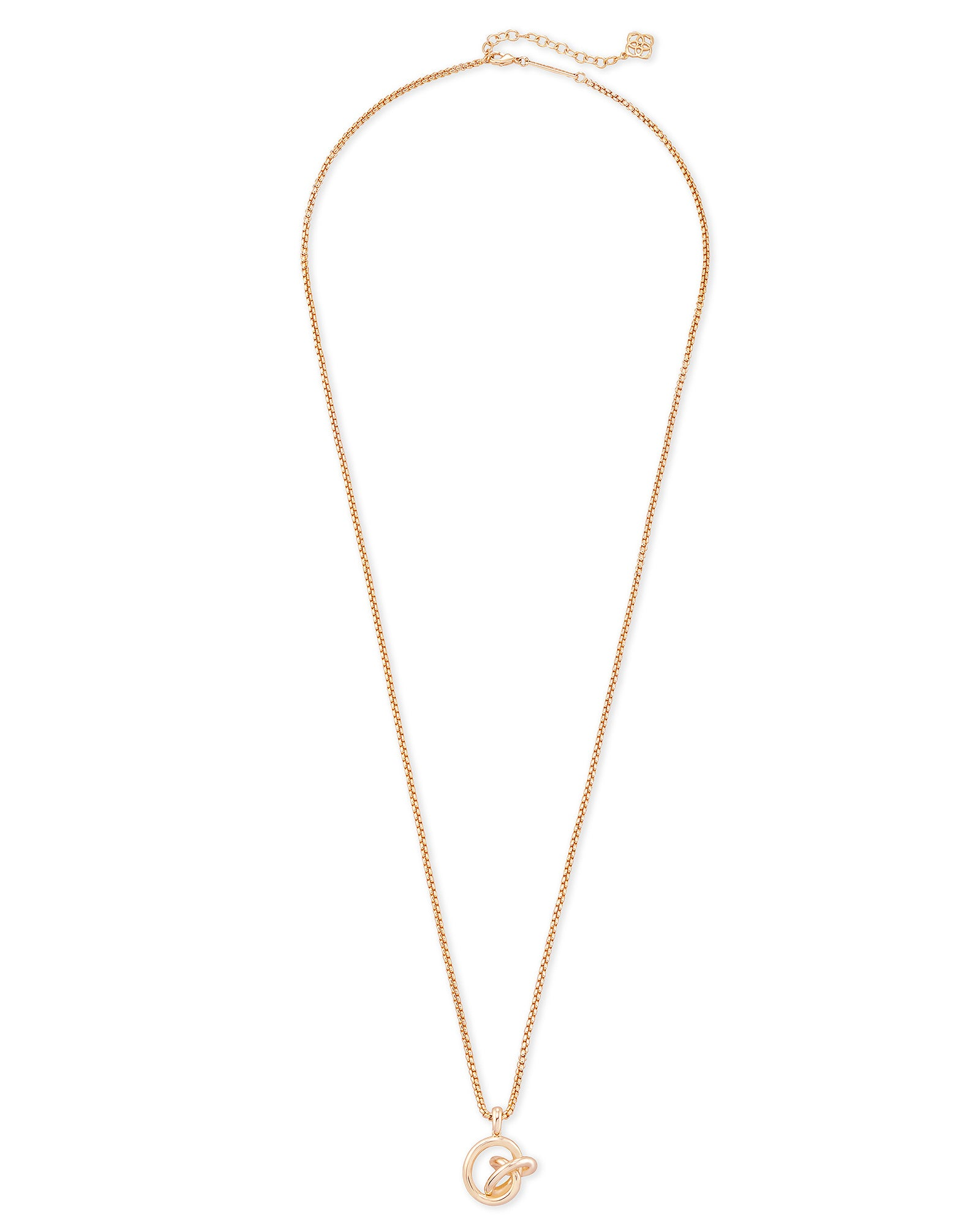 Kendra Scott Presleigh Love Knot Pendant Necklace In Rose Gold