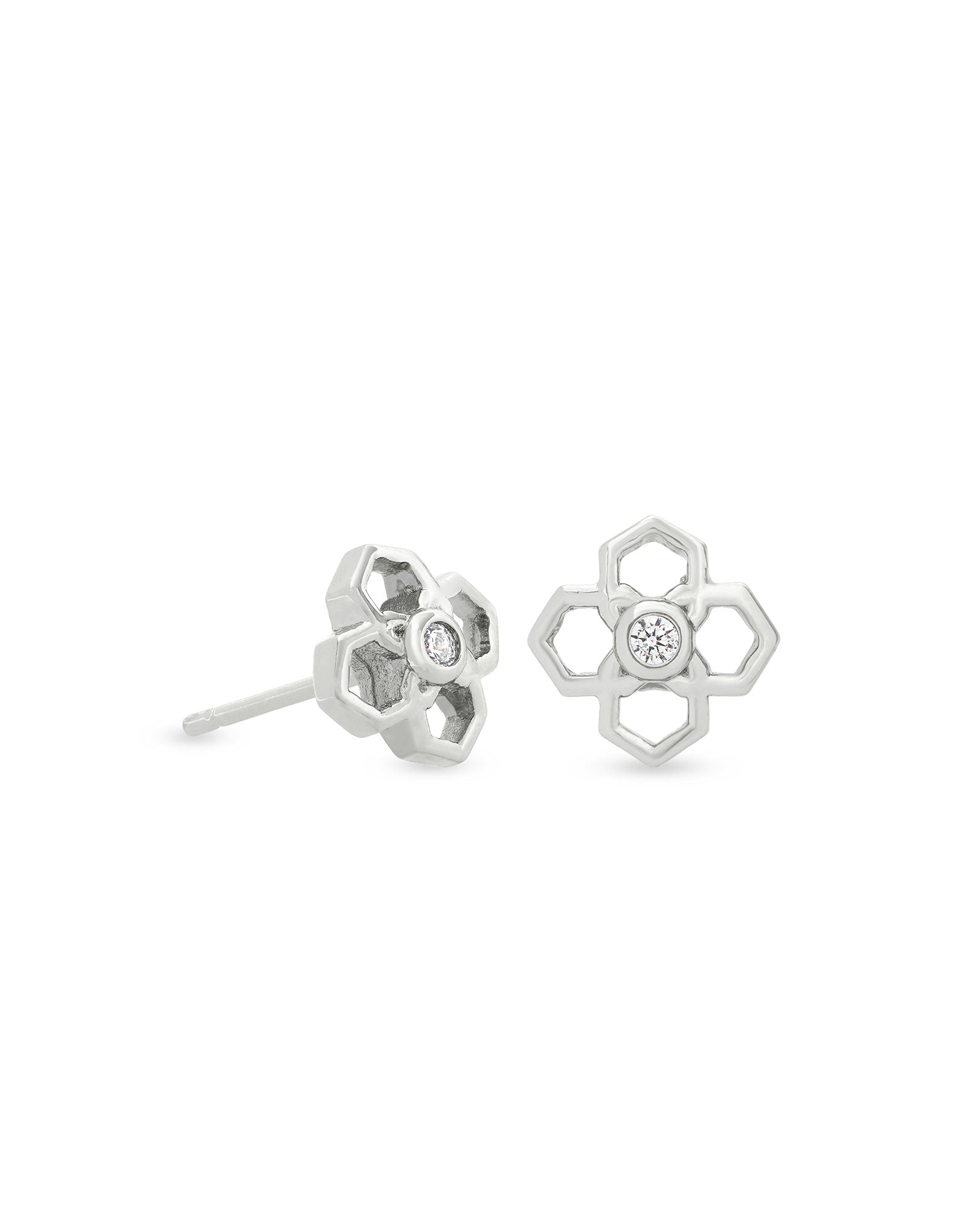 Kendra Scott Rue Stud Earrings In Silver