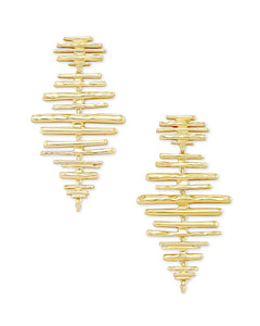 Kendra Scott Rylan Statement Earrings In Gold