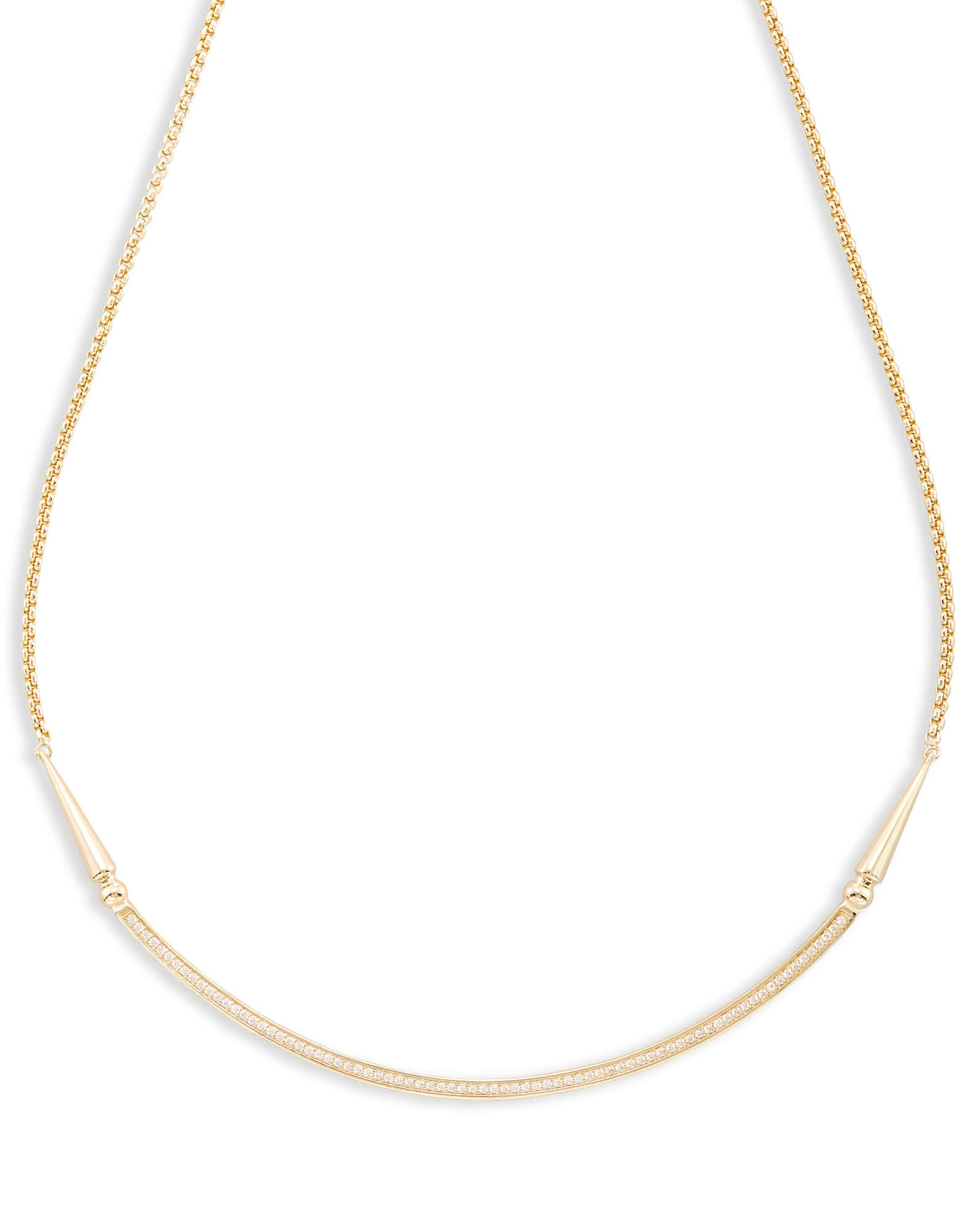 Kendra Scott Scottie Choker Necklace In Gold