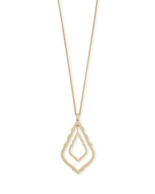 Kendra Scott Simon Long Pendant Necklace In Gold