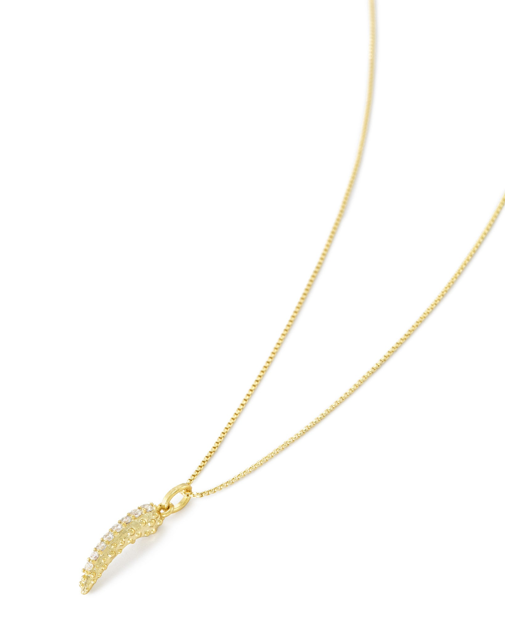 Stormie Long Pendant Necklace In Gold