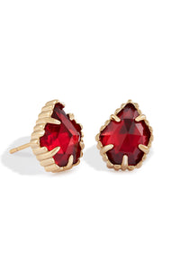 Kendra Scott Tessa Stud Earrings In Clear Berry
