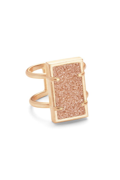 Kendra Scott Lennox Ring In Rose Gold Sand Drusy