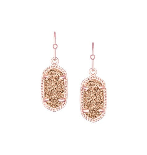 Kendra Scott Lee Earrings in Rose Gold Drusy