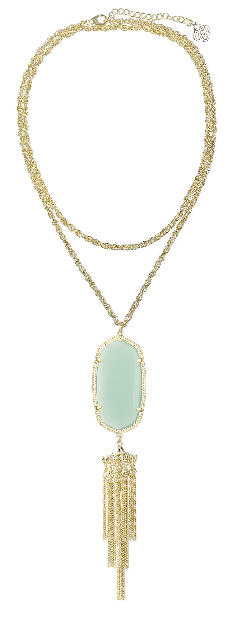 KENDRA SCOTT Rayne Gold Necklace Chalcedony