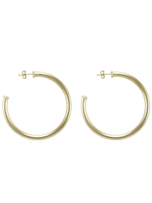 Sheila Fajl Petite Everybody's Favorite Hoops in Gold