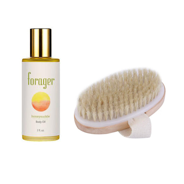 Honeysuckle Body Oil - Skin Brushing Kit