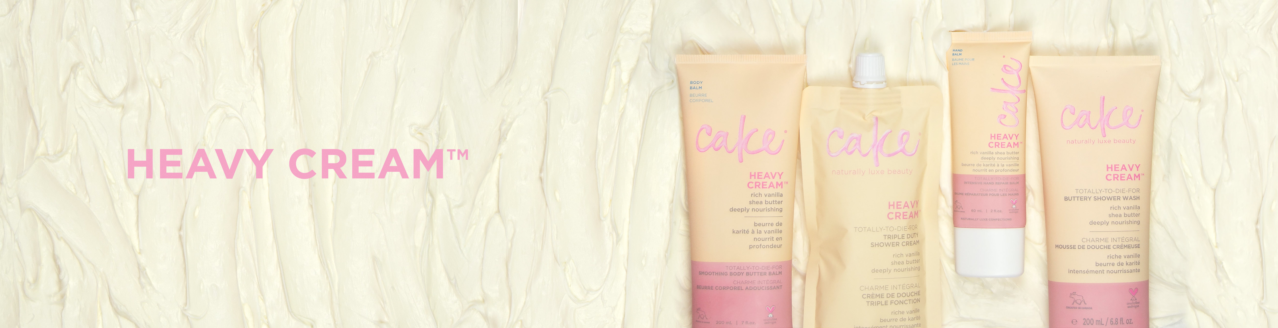 Cake Heavy Cream Collection | Scrub, Lotions, Hand Cream