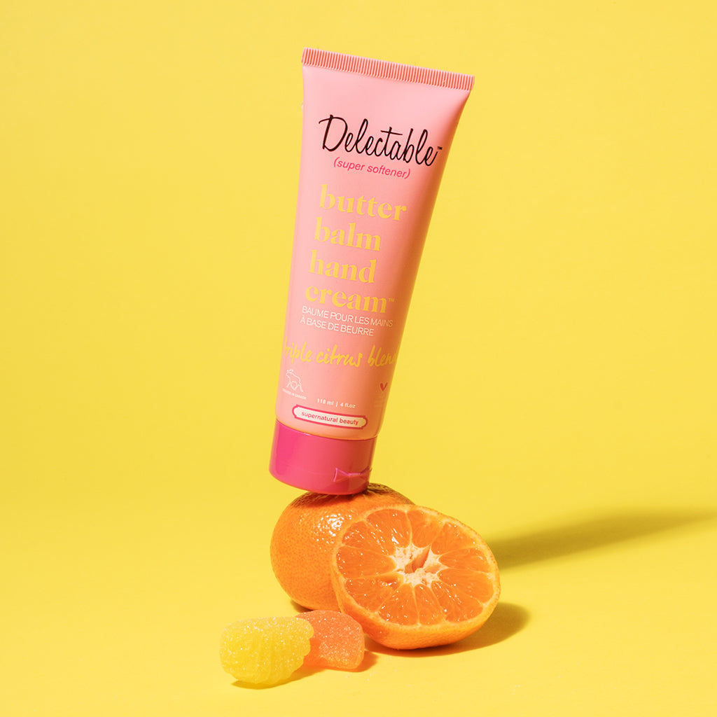 Delectable Triple Citrus Hand Cream | Hydrate Dry Hands | Shea Butter | Lifestyle Photo