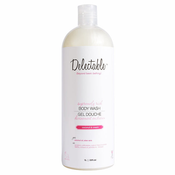 Delectable Best Coconut Body Wash HiVolume - Vegan Cruelty Free Natural Beauty