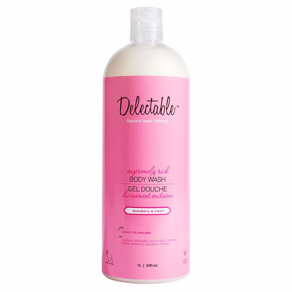 Delectable Strawberry Body Wash HiVolume - Vegan Cruelty Free Natural Beauty