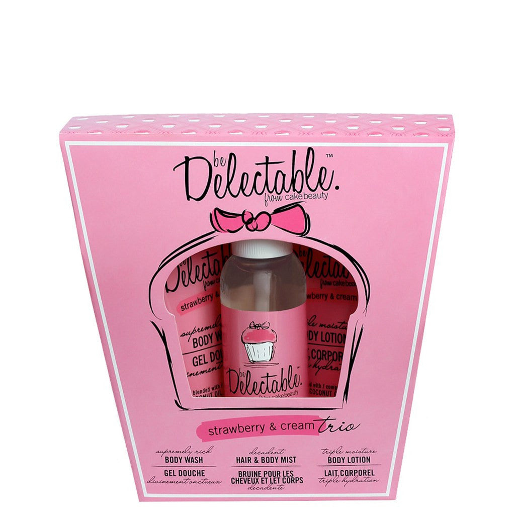 Delectable Strawberry Gift & Travel Set - Vegan Cruelty Free Natural Beauty