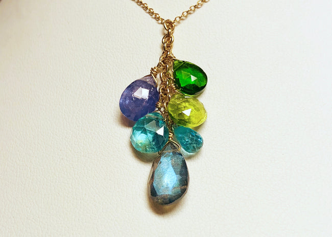 Labradorite Cascade necklace