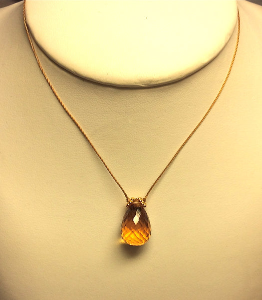 Citrine drop necklace, Stephany Hitchcock Designs, www.StephanyHitchcock.com