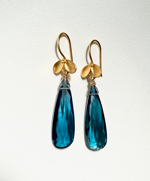 London Blue Hydro Quartz Drop earrings