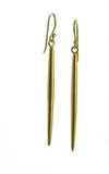Short, medium or long length 24K gold vermeil rice drop earrings