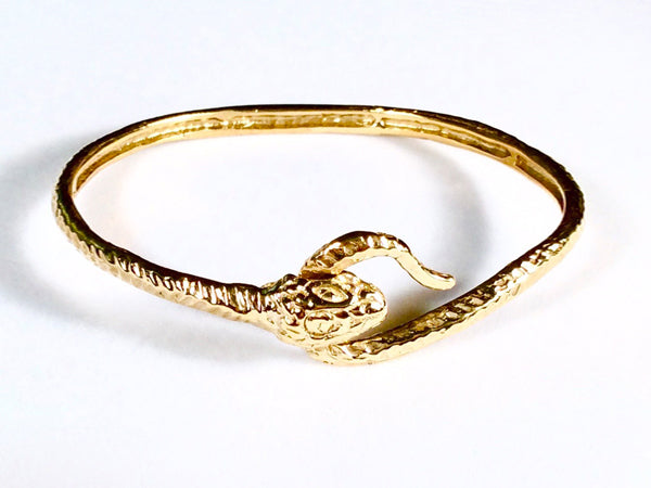 Snake Eating Tail Bangle Bracelet