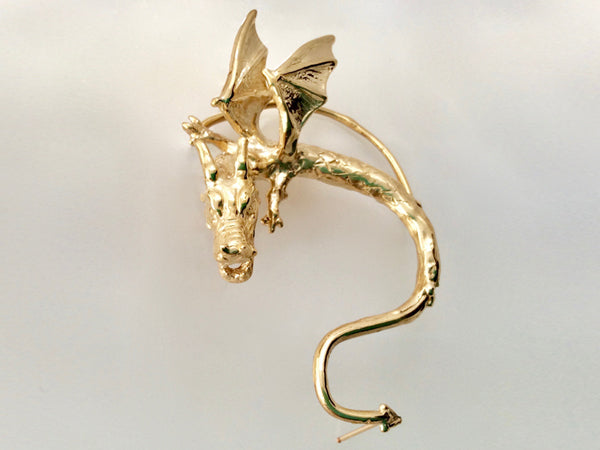Single Dragon Earring